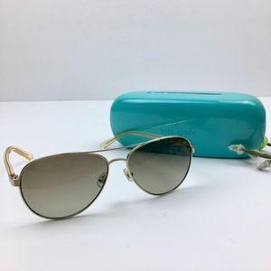 KATE SPADE Gold Frame Aviator Sunglasses w/ Case